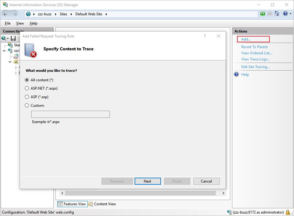 Configure IIS for Debugging